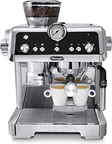 De'Longhi La Specialista Espresso Machine with Sensor Grinder, Dual Heating System, Advanced Latte System & Hot Water Spout for Americano Coffee or Tea