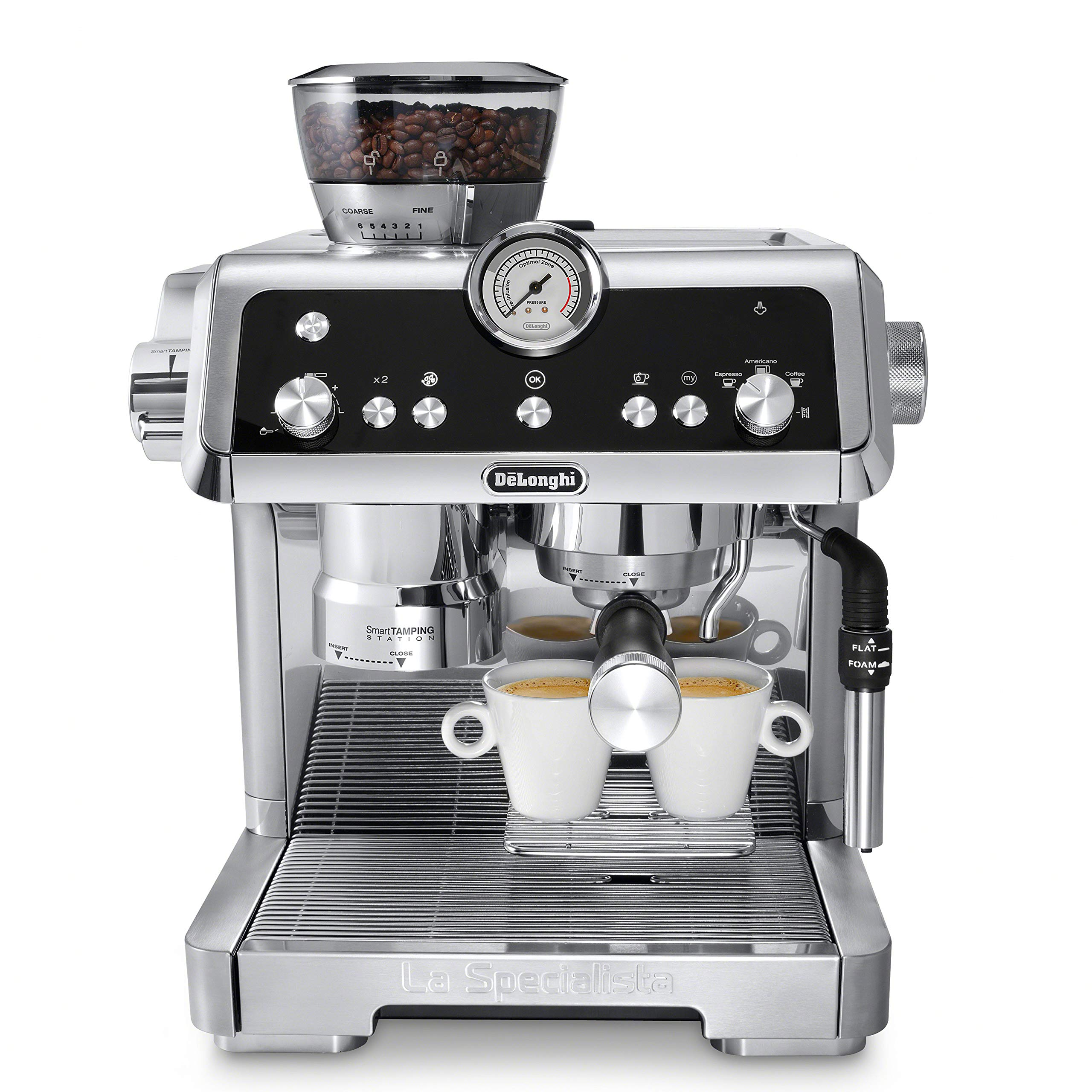 De'Longhi EC9335M La Specialista Espresso Machine with Sensor Grinder, Dual Heating System, Advanced Latte System & Hot Water Spout for Americano Coffee or Tea, Stainless Steel by De'Longhi
