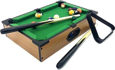 silfrae piscina mesa con palos de billar, triángulo y tiza, escritorio ...