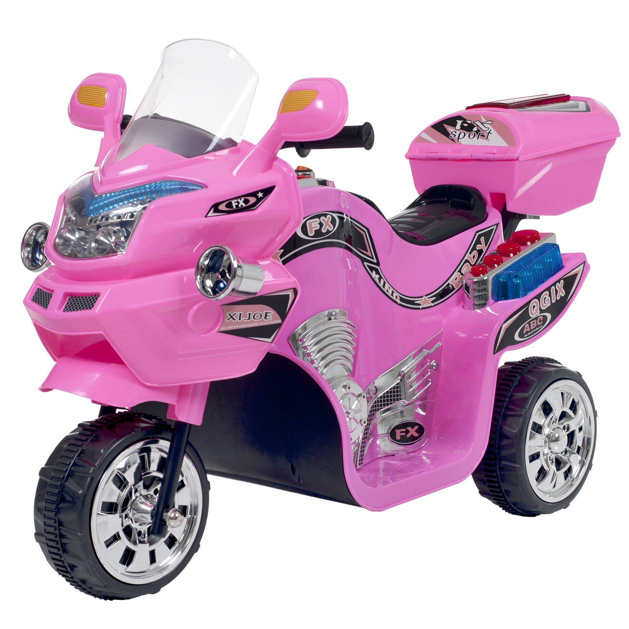 Ride on Toy, 3 Wheel Motorcycle Trike for Kids by Rockin' Rollers  - Battery Powered Ride on Toys for Boys and Girls, 2 - 5 Year Old - Pink FX by Lil' Rider