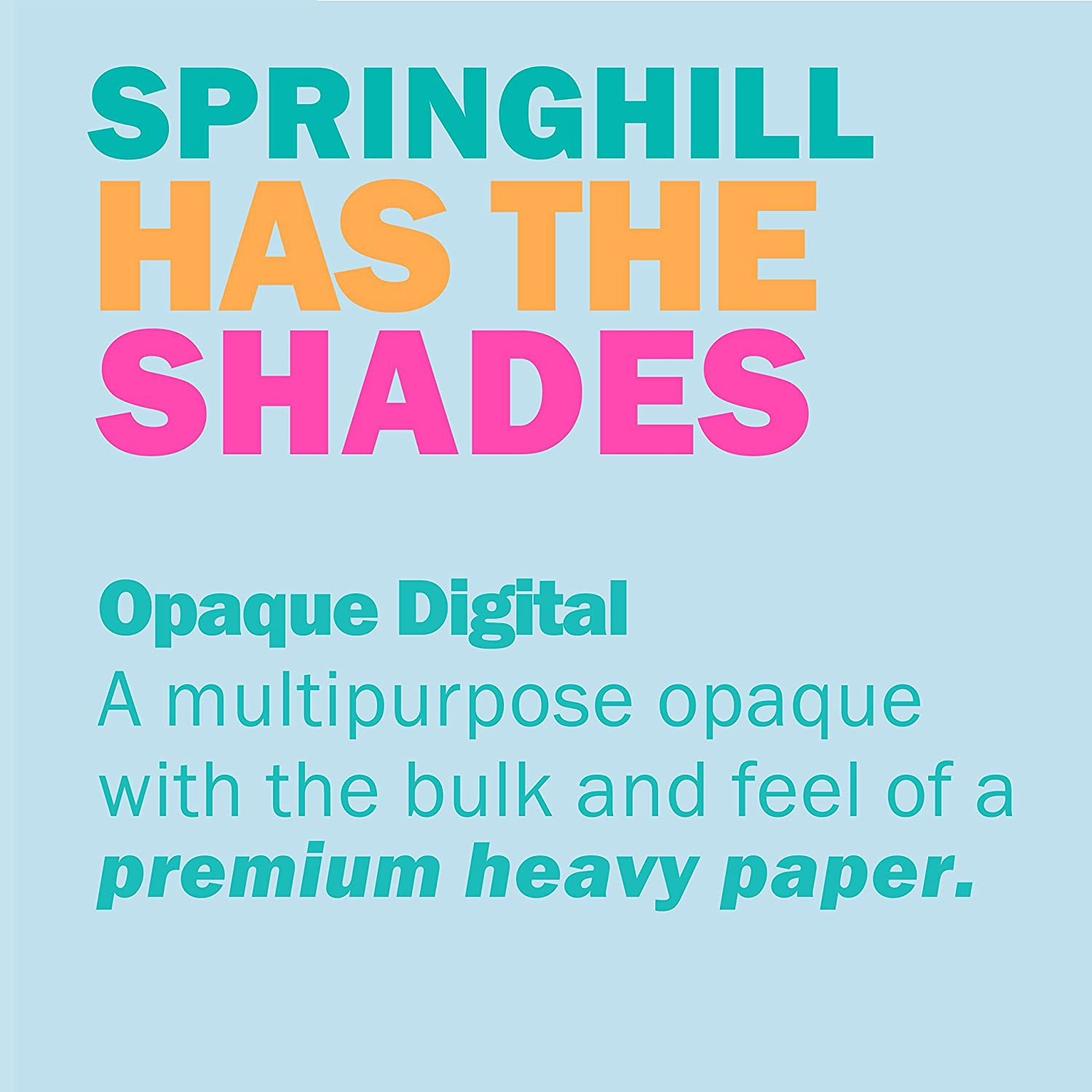 Blue Paper Springhill Colored Paper Opaque 89gsm Heavy Paper 1 Ream // 500 Sheets Legal 024030R Thick Paper 24//60lb 8.5 x 14