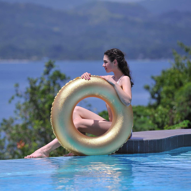 Amazon.com: Inflable oro chispa y brillo 35 inch piscina ...