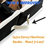 Woffit Under The Bed Shoe Organizer Fits 16 Pairs + 4 Pairs Boots - Sturdy & Breathable Materials - Underbed Storage Solution for Kids Men & Women Shoes - Great Space Saver for Your