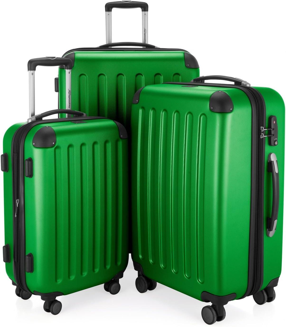 Hauptstadtkoffer Spree, Juego de maletas, Verde
