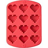 RO Nerdy Nummies Silicone Candy Mold-Heart 12 Cavity