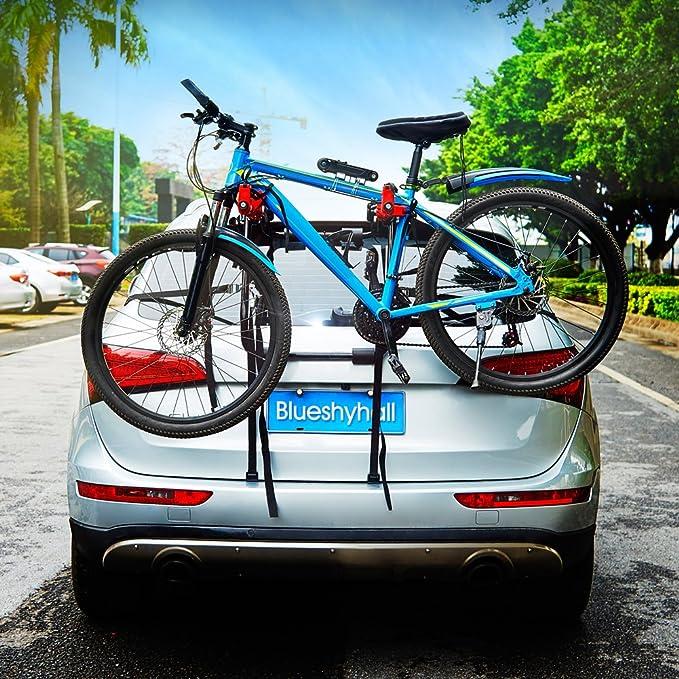 Blueshyhall Auto Fahrradträger Heckklappe Fahrradträger Ohne Anhaengerkupplung Fahrradträger Mit Gurten Stil 1 Auto
