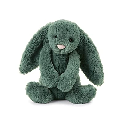 Jellycat Bashful Forest Bunny Stuffed Animal, Medium 12 inches: Toys & Games