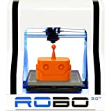 "ROBO 3D R1 Fully Assembled 3D Printer, 8"" x 9"" x 10"" (Discontinued)"
