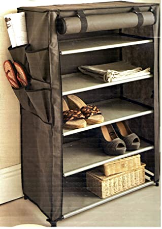 NON WWOVEN MULTI PURPOSE FABRIC CANVAS STORAGE UNIT WITH 5 SHELVES by  Storage Solutions