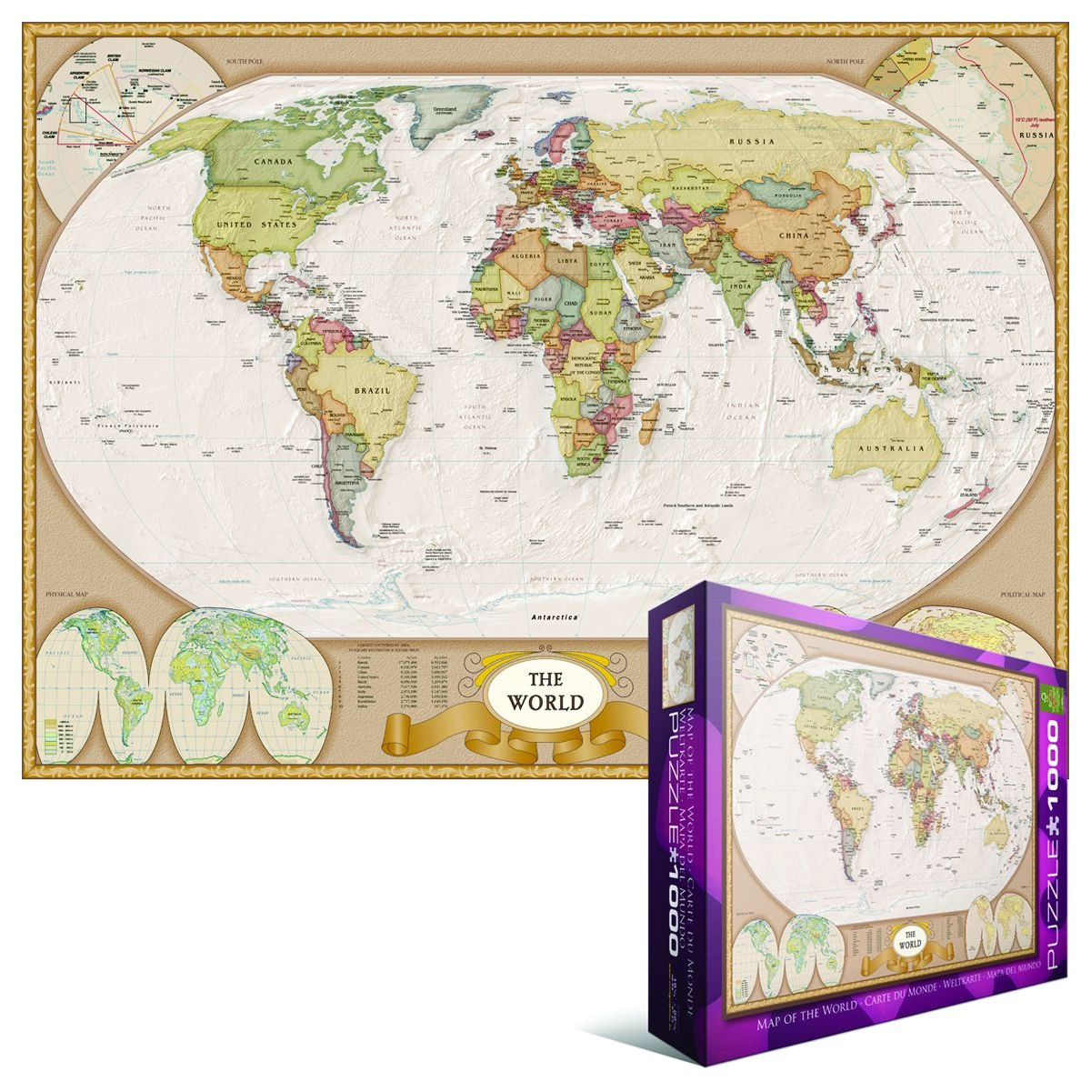 Amazon EuroGraphics Map of the World Puzzle 1000Piece – Map World Puzzle