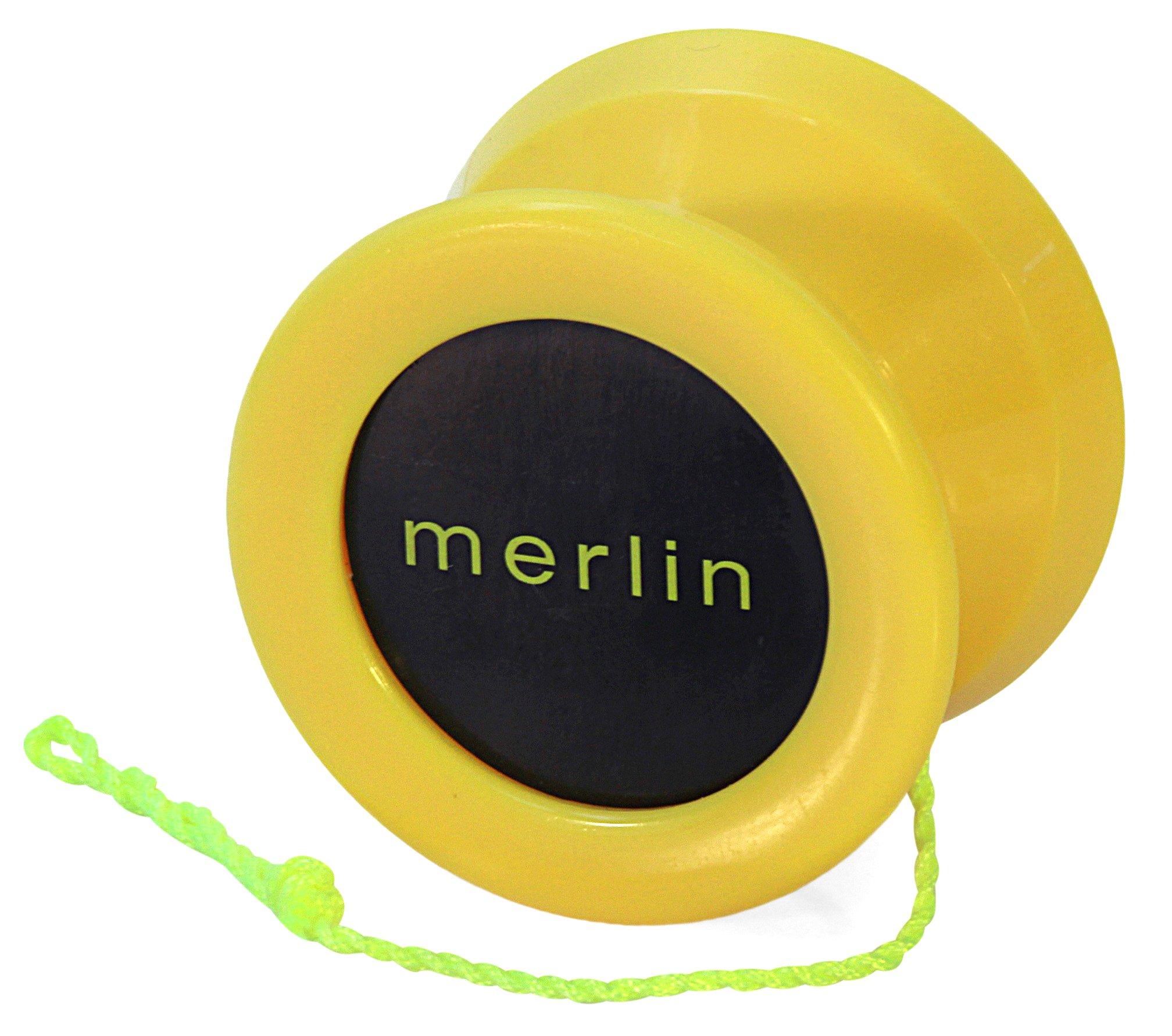 Yoyo King Yellow Merlin Professional Ball Bearing Axle Yoyo for Pro Tricks