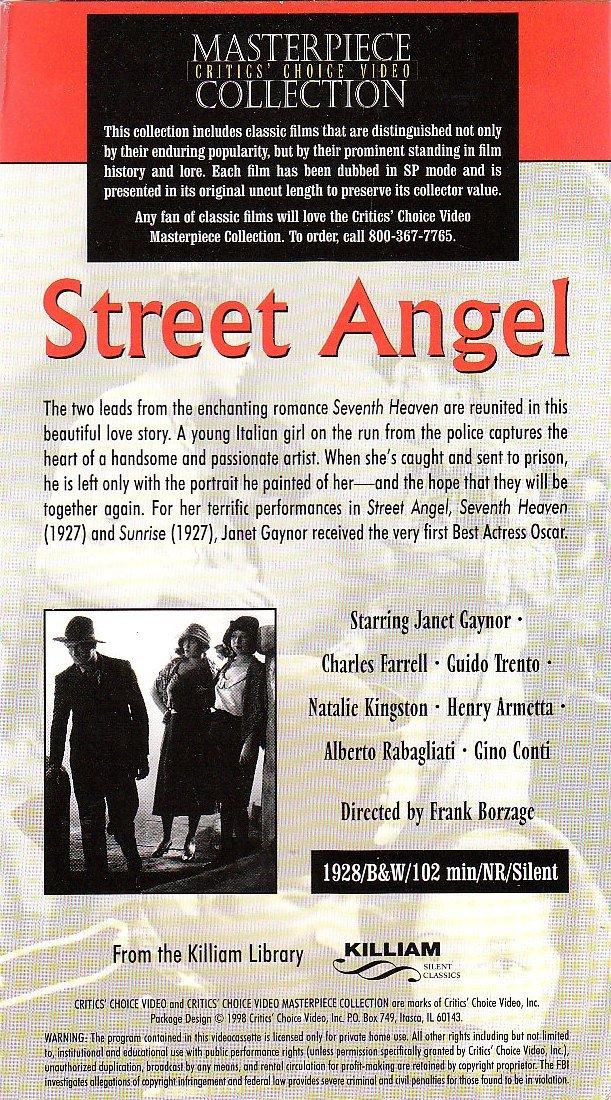 Amazon.com: Street Angel: Janet Gaynor, Charles Farrell ...
