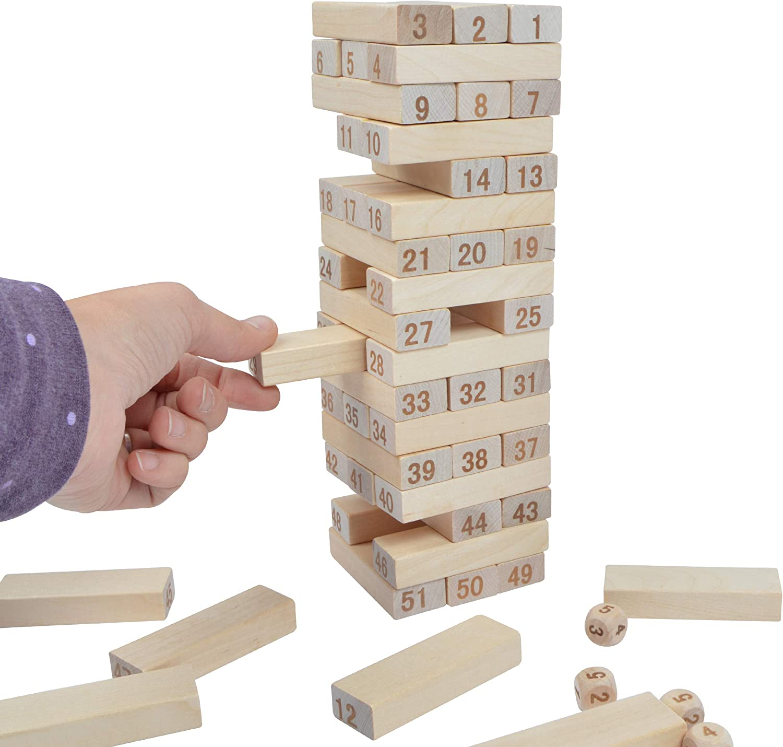 Ocean5 Torre apilable con números, Torre de apilamiento (27,5x8x8cm), para niños y Adultos: Amazon.es: Juguetes y juegos