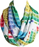Etwoa's Chemistry Periodic Table Colorful Infinity Scarf Geeky Scarf
