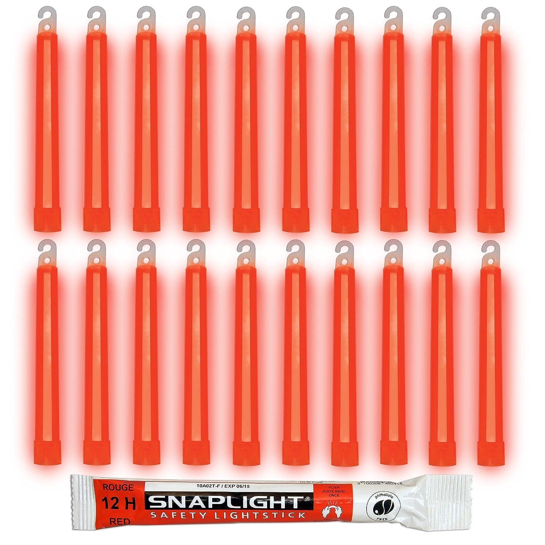 Cyalume SnapLight Rot KnickLichter Glow Sticks – 15cm 6 Inch Industrial Grade Leuchtstab, Ultra helle Light Sticks mit Leuchtdauer 12 Stunden (10-er Pack) Cyalume Technologies SA8-108078AM