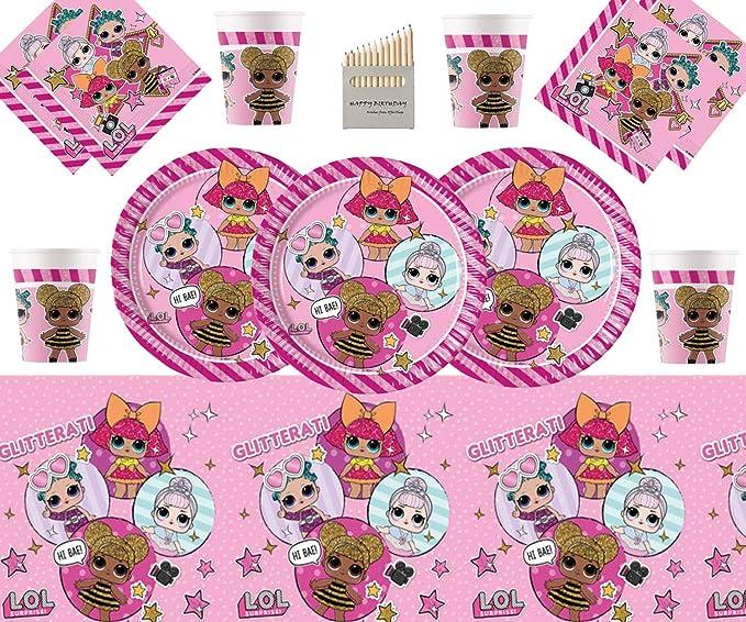 LOL Party Pack Vajilla de cumpleaños para niños LOL ...