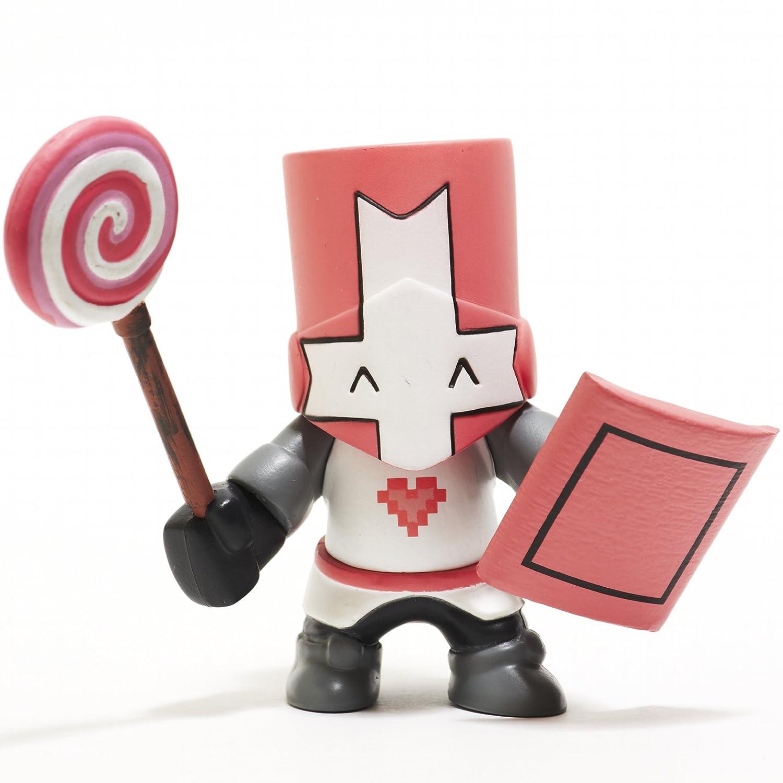 amazon com castle crashers pink knight figurine toys u0026 games
