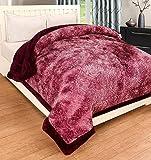 Ab home decor Super-Soft-Microfibre-Heavy-Quilt-Razai for Winter- Double Bed-Wine 4.5kg