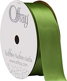 "product image for Berwick Offray 475904 7/8"" Wide Single Face Satin Ribbon, Kiwi Green, 6 Yds"