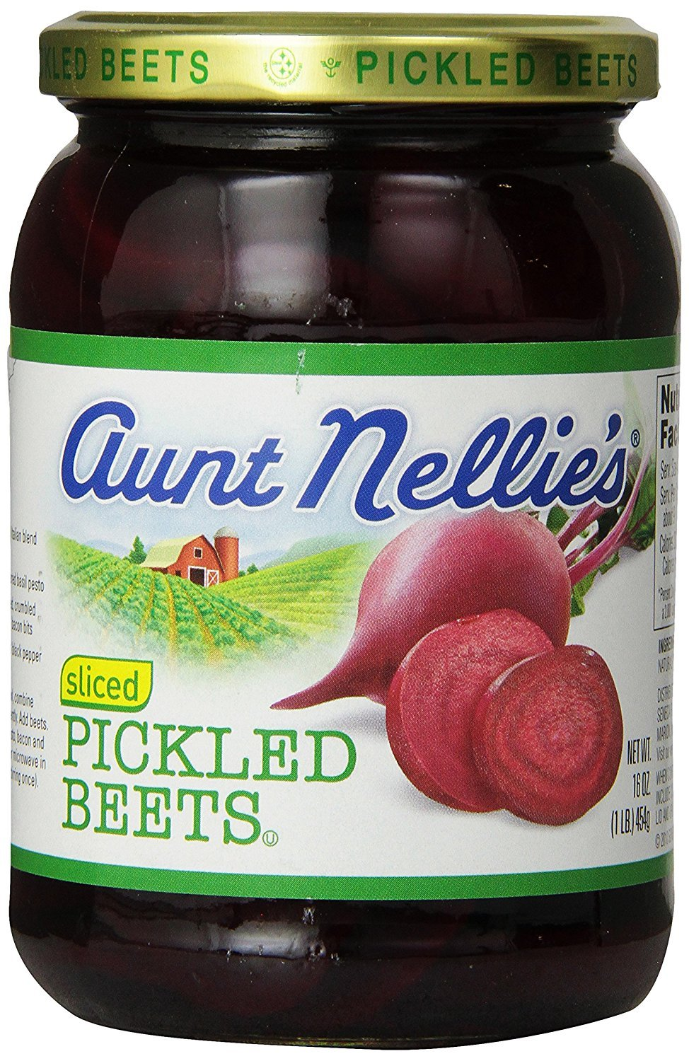Aunt Nellie's Sliced Pickled Beets 16 oz (Pack of 12)