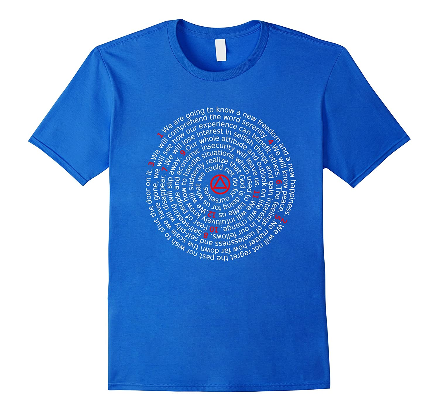 'The Twelve Promises' - AA 12 Step Recovery Spiral T-Shirt-TH
