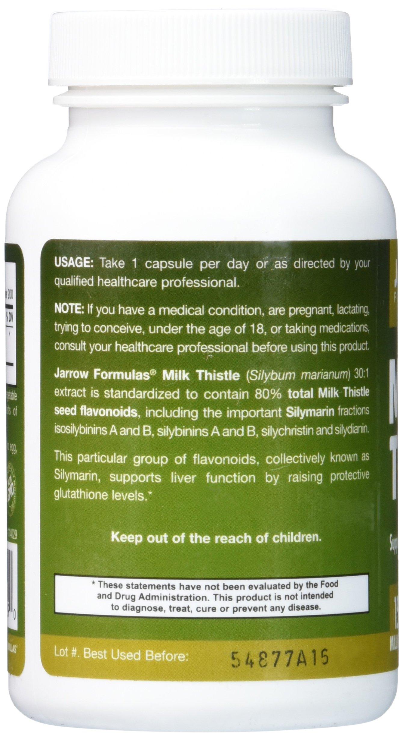 Jarrow Formulas Milk Thistle (Silymarin Marianum), Promotes Liver Health, 150 mg per Capsule, 200 Veggie Capsules by Jarrow Formulas (Image #4)