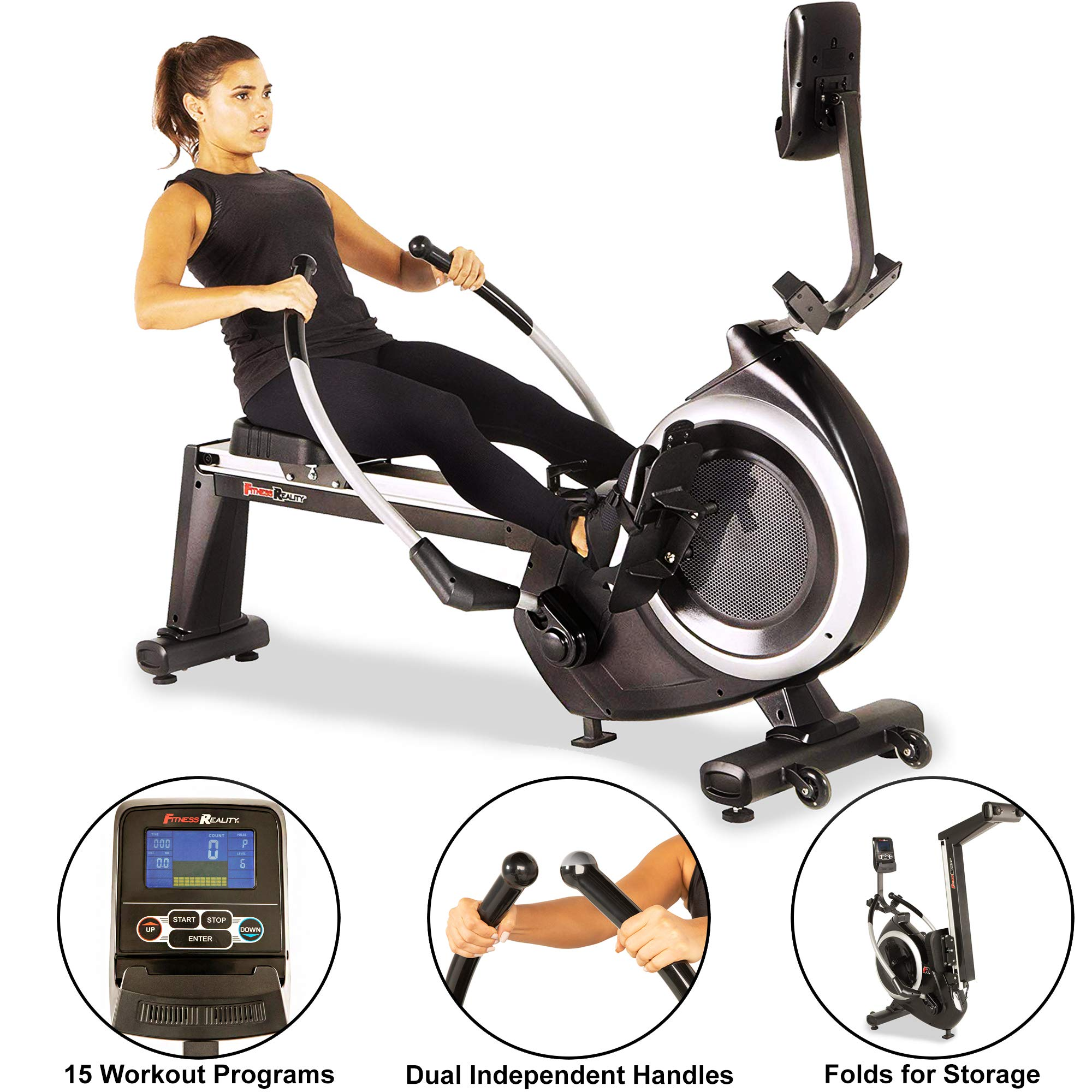 Fitness Reality 4000MR Magnetic Rower Rowing Machine with 15 Workout Programs by Fitness Reality