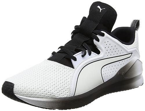 Puma Fierce Lace Wns, Zapatillas Deportivas para Interior para Mujer, Blanco White Black 03
