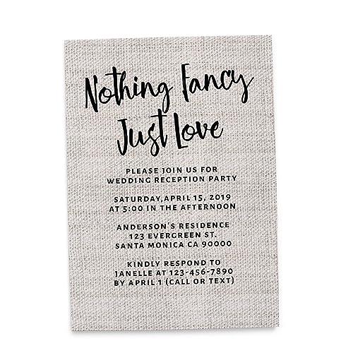 Amazon Nothing Fancy Just Love Elopement Wedding Announcement