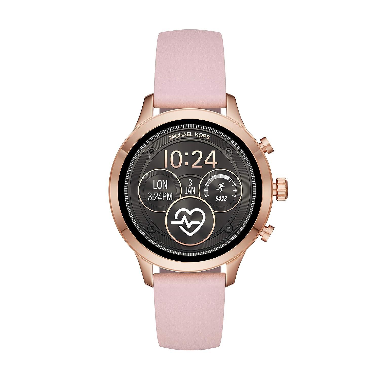 7ba814c60a4d Amazon.com  Michael Kors Women s Access Runway Stainless Steel Silicone  Smart Watch