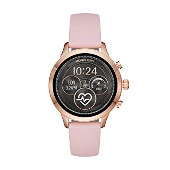 0e8904590c68 Image Unavailable. Image not available for. Color  Michael Kors Women s  Access Runway Stainless Steel Silicone Smart Watch