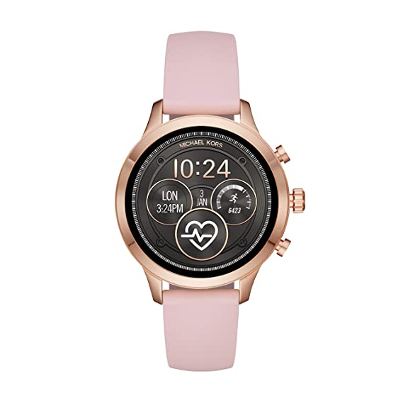 0f2716497a76 Amazon.com  Michael Kors Women s Access Runway Stainless Steel Silicone  Smart Watch
