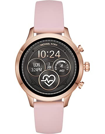 34992e40f927 Michael Kors Women s Access Runway Stainless Steel Silicone Smart Watch
