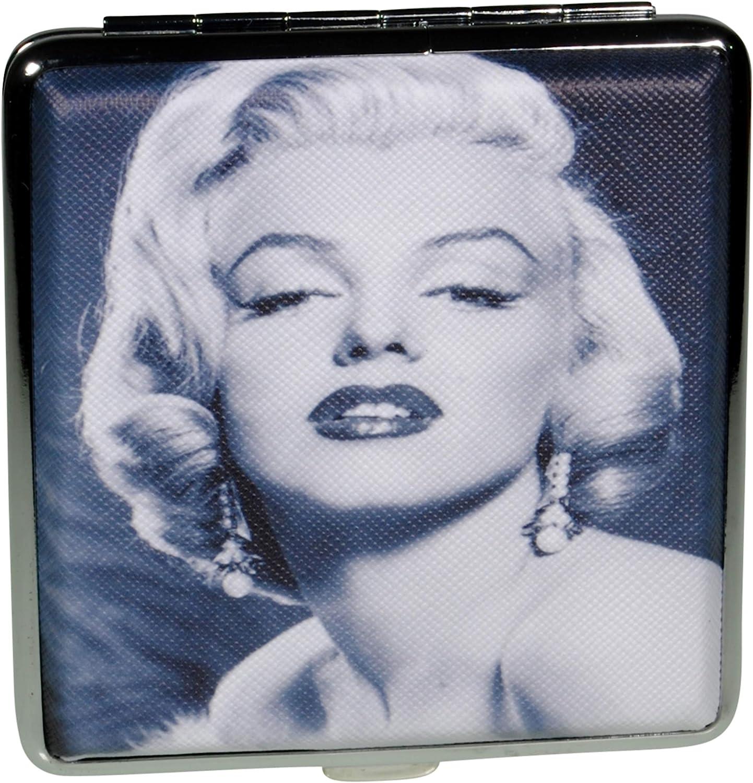 Simone Erto Zigarettenetui Marilyn Monroe schwarz weiss f/ür 18-20 Zigaretten Damen schwarz