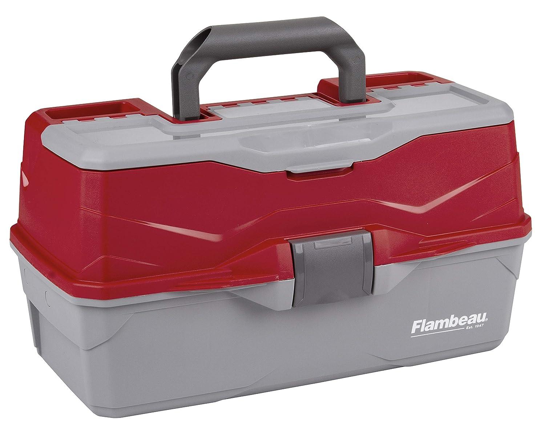 Flambeau Outdoors 6383TB 3-Tray – Classic Tray Tackle Box – Red Gray
