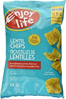 product image for Enjoy Life Foods Lentil Chips, Margherita Pizza Flavor, Gluten, Dairy, Nut & Soy Free And Vegan, 4-Ounce