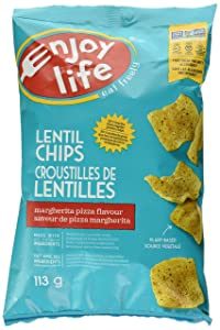 Enjoy Life Foods Lentil Chips, Margherita Pizza Flavor, Gluten, Dairy, Nut & Soy Free And Vegan, 4-Ounce