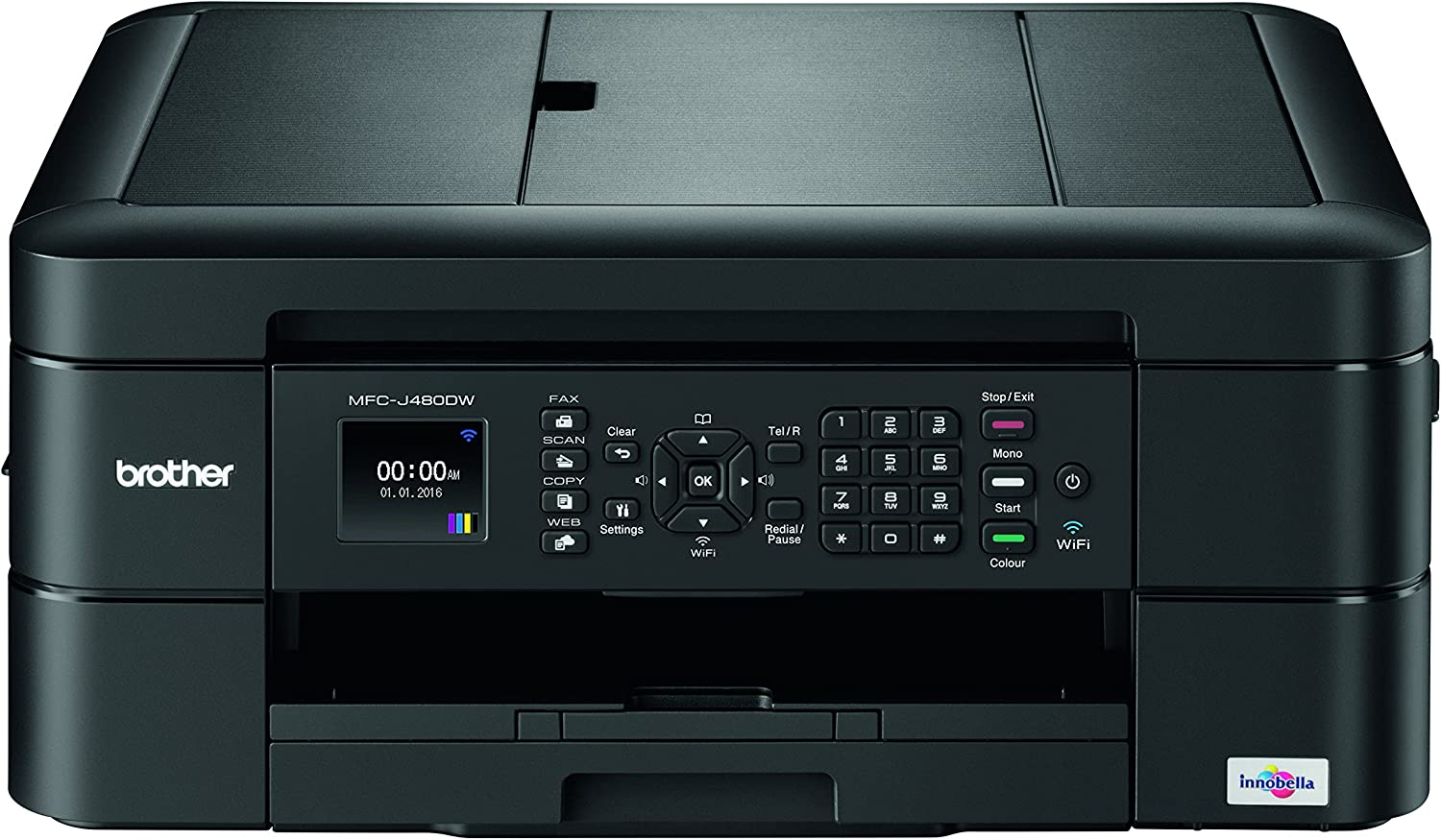 Brother MFC-J480dw Wireless Inkjet Color All-in-One Printer with Auto Document Feeder Dash Replenishment Enabled 1.8""
