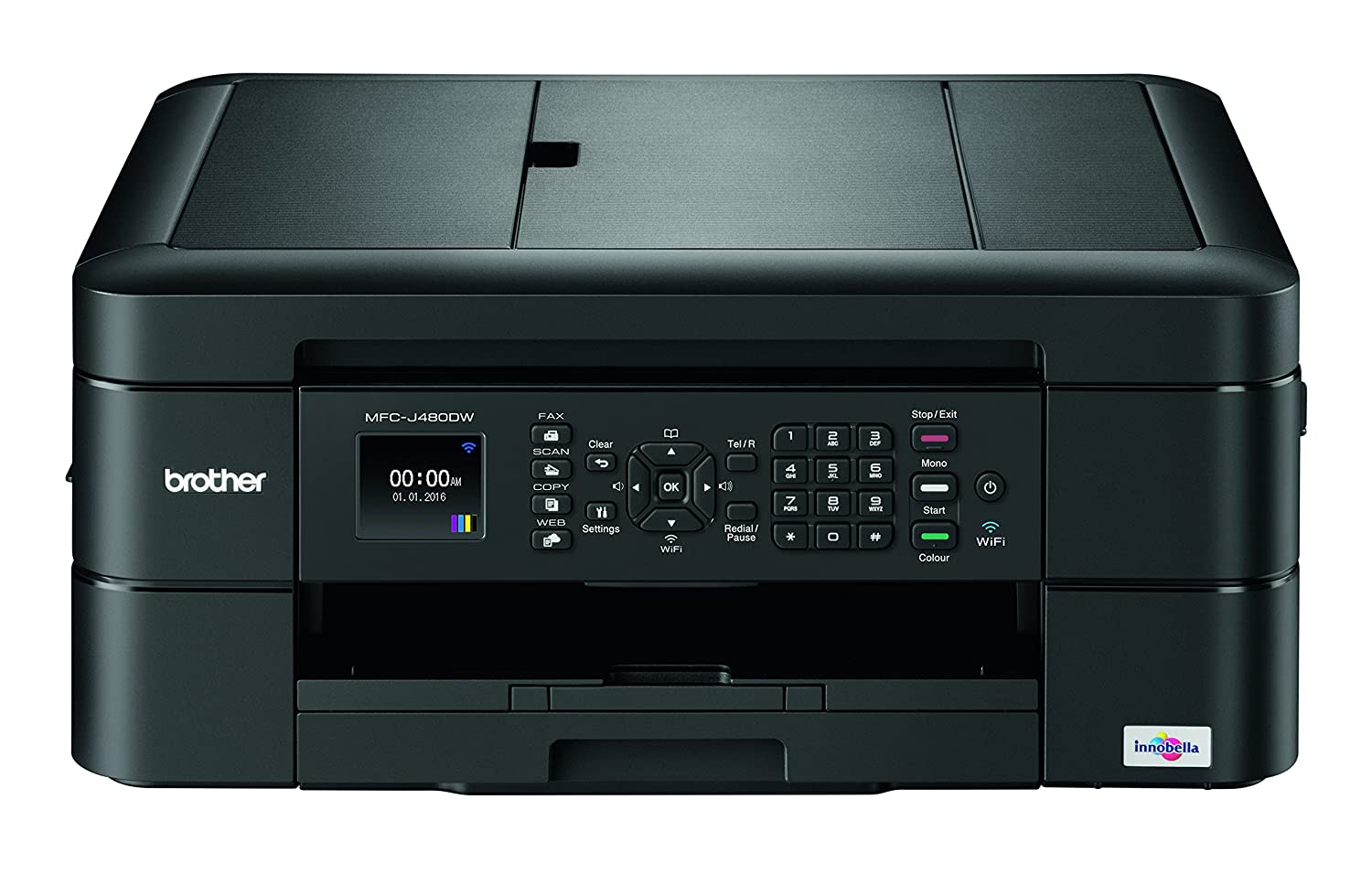 Brother MFC-J480dw Wireless Inkjet Color All-in-One Printer with Auto Document Feeder Dash Replenishment Enabled 1.8'