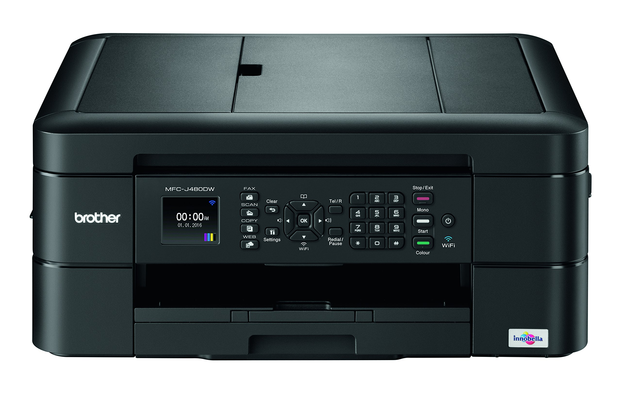 Brother MFC-J480dw Wireless Inkjet Color All-in-One Printer with Auto Document Feeder Dash Replenishment Enabled 1.8''