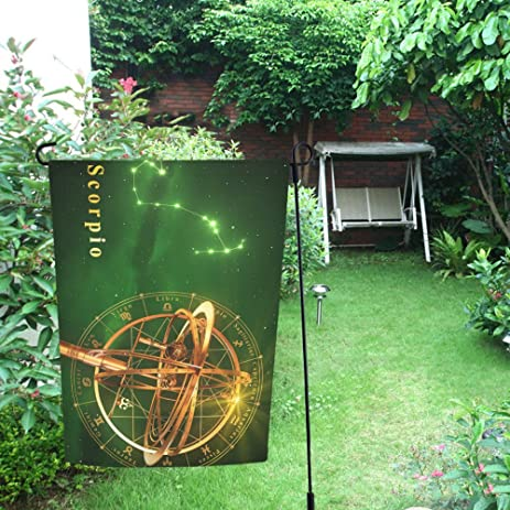 Happy More Custom Armillary Sphere And Constellation Decor Double Garden  Flag 28x40 Inch