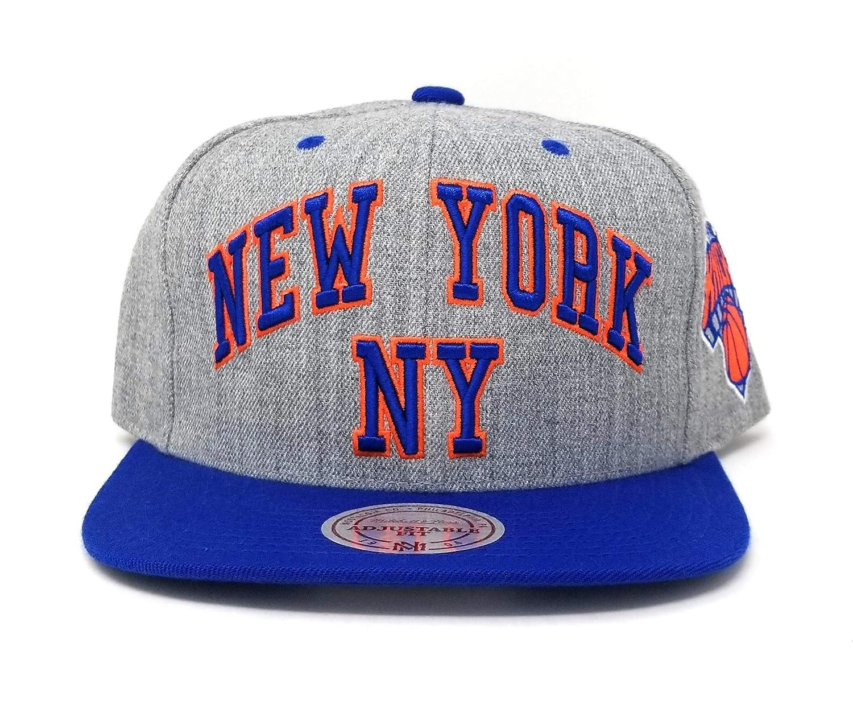 Mitchell   Ness Men s Grey Blue NBA New York Knicks Snapback Cap at Amazon  Men s Clothing store  0dcc5fc3e7c