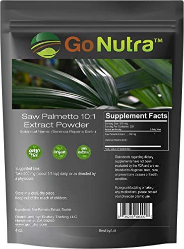 Saw Palmetto Root Extract Powder 10 1 Strength 4 oz.