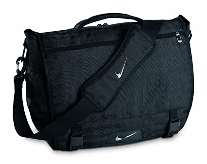 Image Unavailable. Image not available for. Color  Nike Departure Messenger  Bag (Black Silver) a011628aee70f