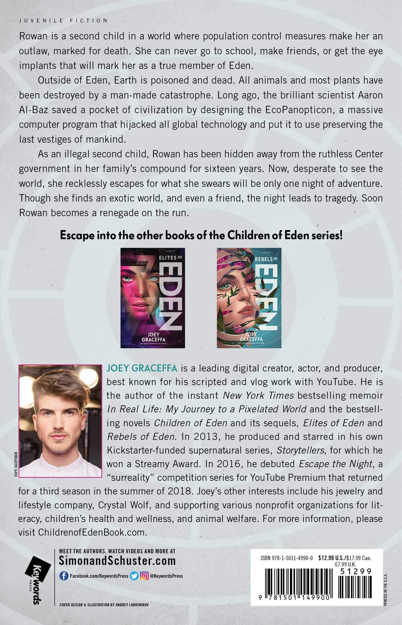 Amazon.com: Children of Eden: A Novel (9781501149900): Joey Graceffa: Books