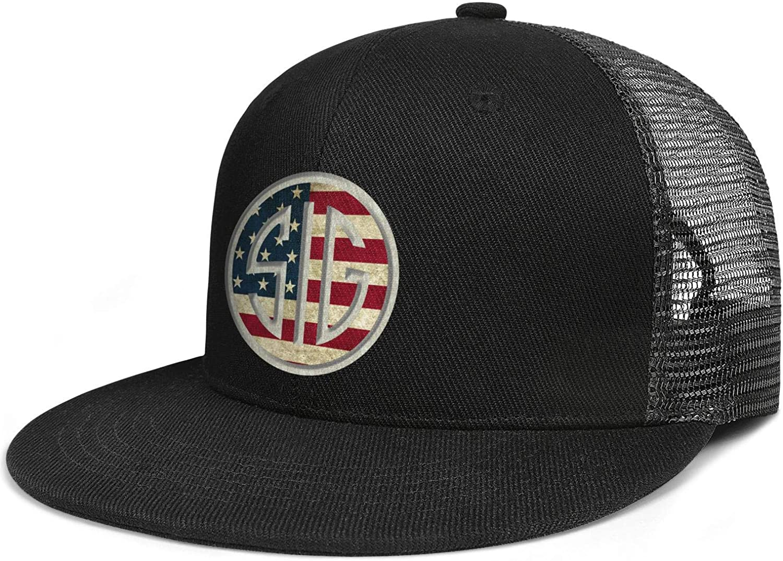Heart Wolf Vintage-American Hat for Mens Womens Baseball Hat Adjustable Outdoor Snapback Hats Mersh Cap
