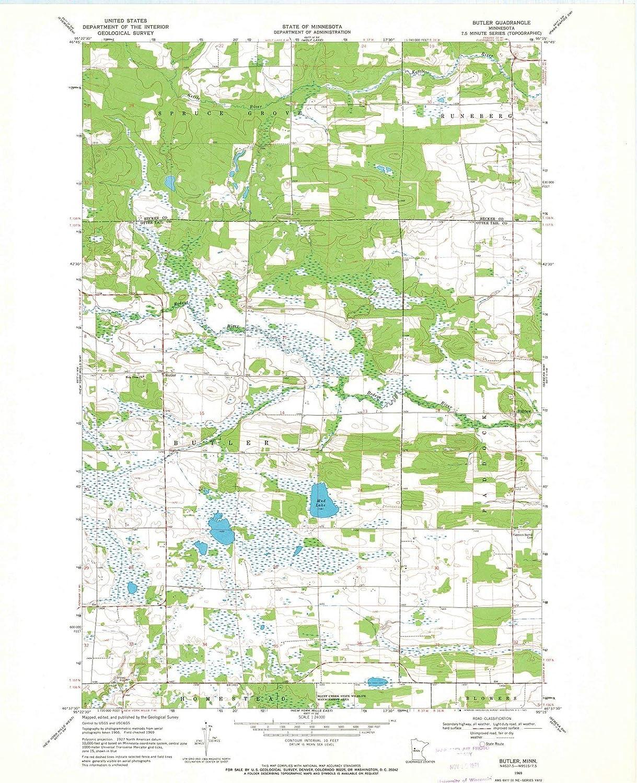 Amazon.com: Minnesota Maps | 1969 Butler, MN USGS Historical ...