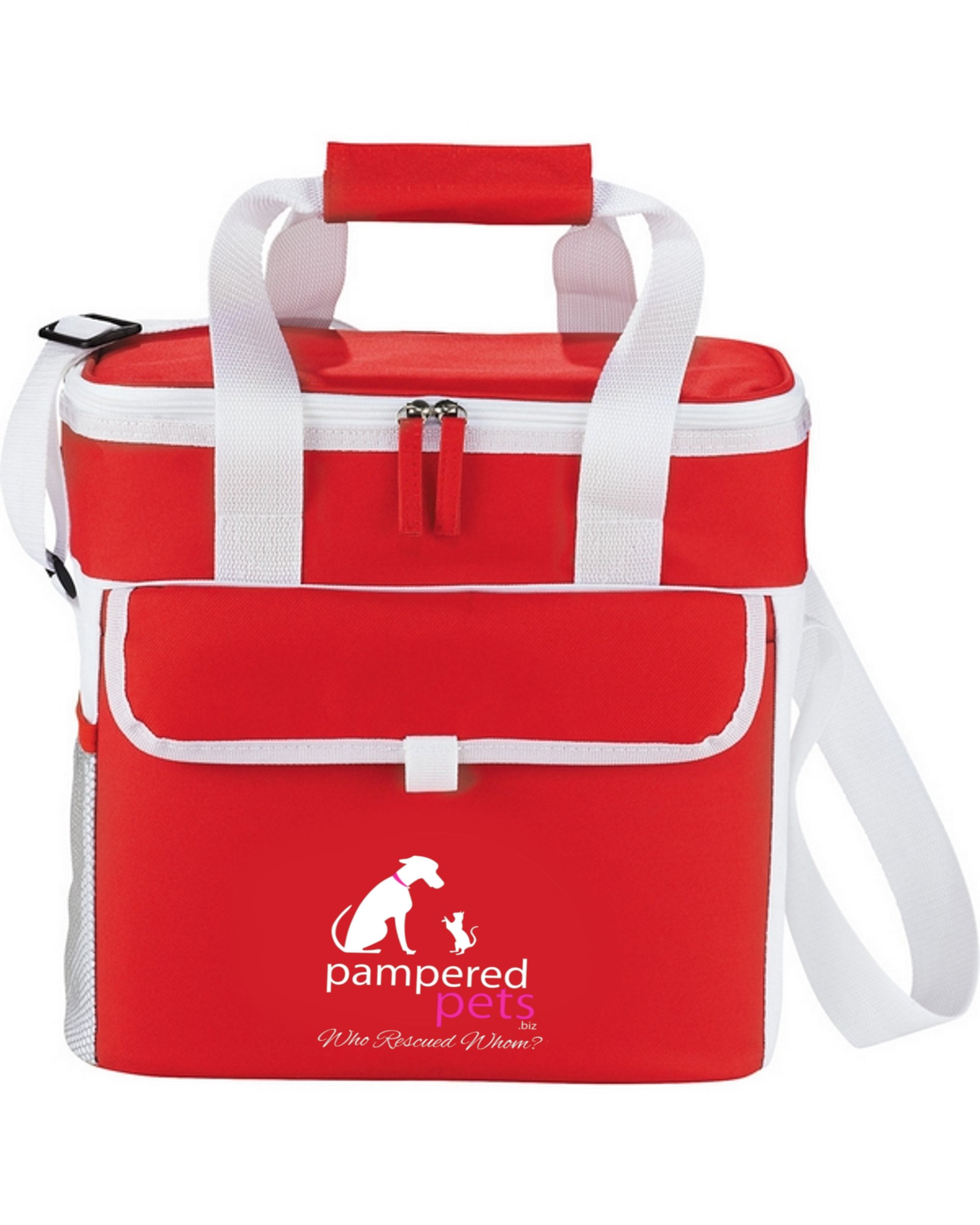 Pampered Pets ''Who Rescued Whom'' Game Day Sport Cooler, Red