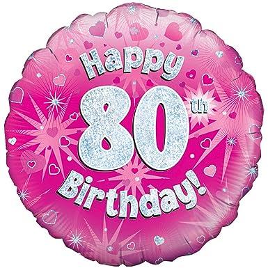 Oaktree - Globo Rosa de cumpleaños para I 80 años Rosa ...