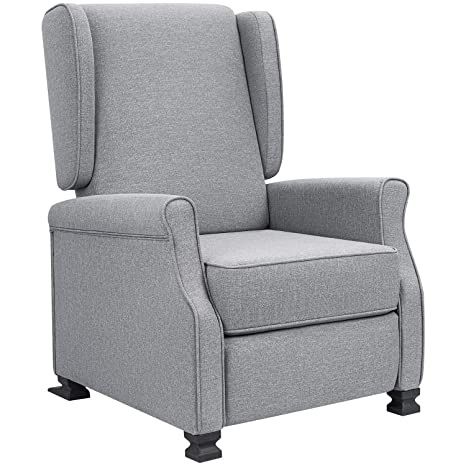 Fabulous Jummico Recliner Chair Wingback Fabric Adjustable Modern Living Room Arm Chair Push Back Single Recliner Sofa Home Theater Chair Grey Dailytribune Chair Design For Home Dailytribuneorg